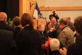 Egon und Susanne im Kreis der Gratulanten