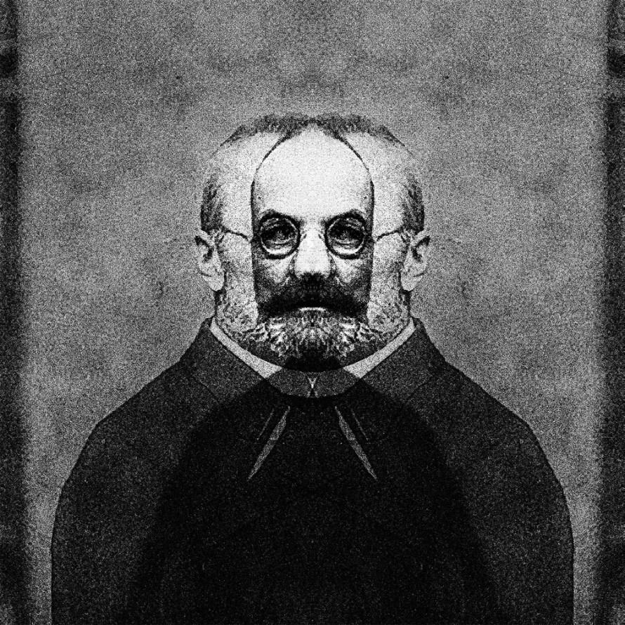 Csontó Lajos: Kettőzött portrék, 1914, részlet a sorozatból, 2014, c-print, 100x100 cm