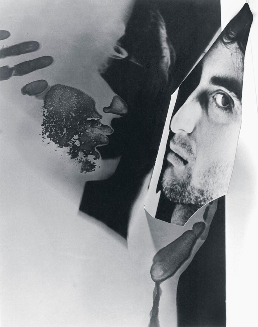 Fotó: Czeizel Balázs: Falhoz szorított fotópapír, 1987, kemofotogram + fotó