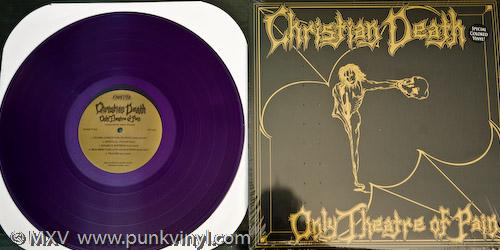 Christian Death - Only Theatre of Pain on transluscent purple vinyl