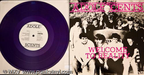 """Adolescents - Welcome to Reality 10"""" on translucent purple vinyl"""