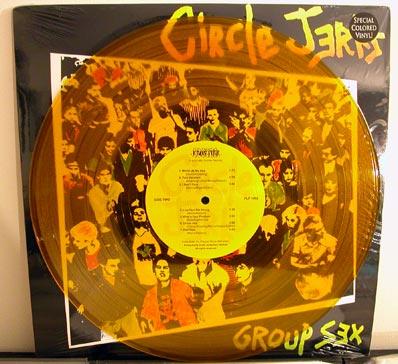 Circle Jerks - Group Sex LP on yellow vinyl
