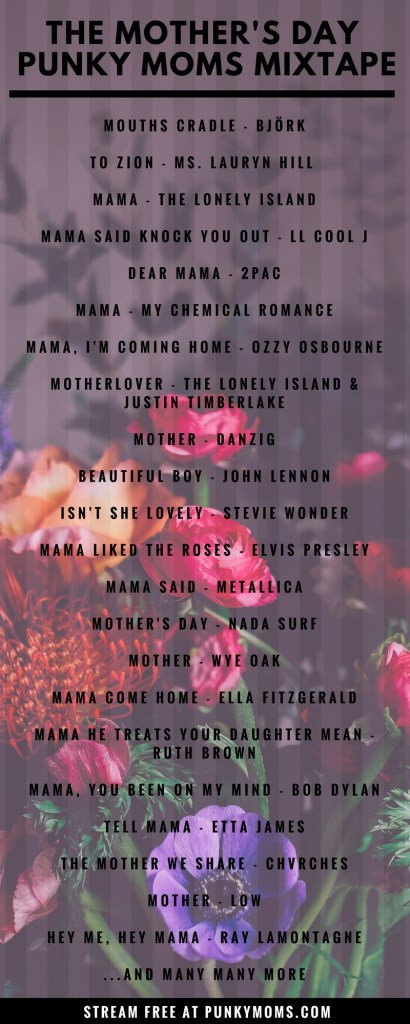Ode To Mom, These Songs For Mom, Rock! Your Mother's Day Playlist Is Done. Some great songs to listen to to celebrate motherhood. Mother's Day Music Mixtape - Free Streaming on Spotify. Songs for mom! Mom rocks! My Chemical Romance, Danzig and Stevie Wonder.