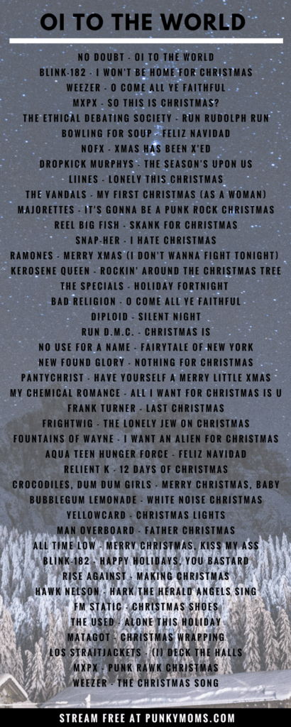 oi to the world with our punk rock christmas mix stream free on spotify - Classic Rock Christmas Songs
