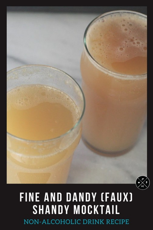 When you can't (or don't want to) drink, try this delicious and easy shandy mocktail that looks just like the real thing! It's a fine and dandy (faux) shandy! We have many mocktail non-alcoholic recipes. Pregnancy drinks that are easy to make.
