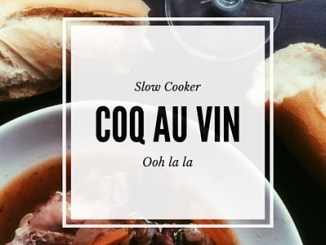 Make this fairly simple Coq Au Vin slow cooker recipe for dinner tonight. An easy way to get a delicious meal at home.