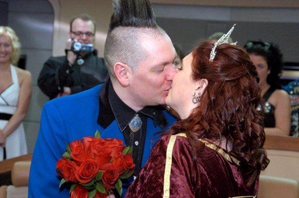 Emma's Star Trek Wedding - A roundup of our favorite Punky Mom Weddings Ever PLUS a Bonus Modern Love Mixtape of alternative songs to play to walk down the aisle.