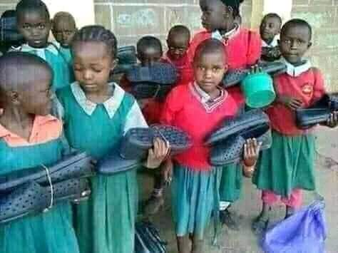 Our pupils shall never go barefooted