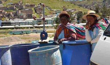 En problemas. Pobladores de Puno corren el riesgo de quedarse sin agua potable