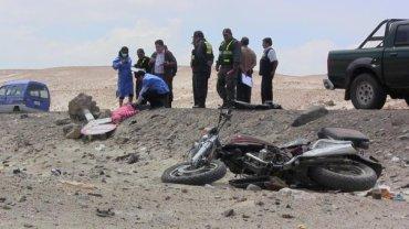 Múltiples accidentes de tránsito deja cinco personas muertas
