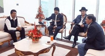 Evo Morales se reunió con electos gobernadores Walter Aduviri y Zenon Cuevas