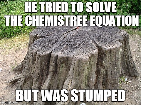 stumped tree pun