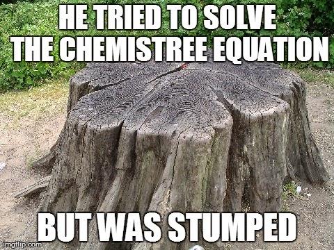 stumped tree pun