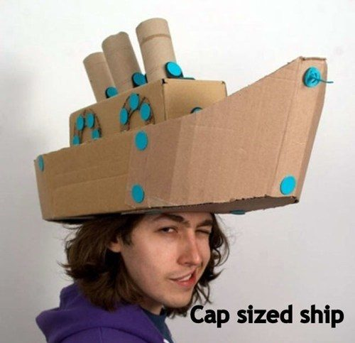 Cap sized ship pun
