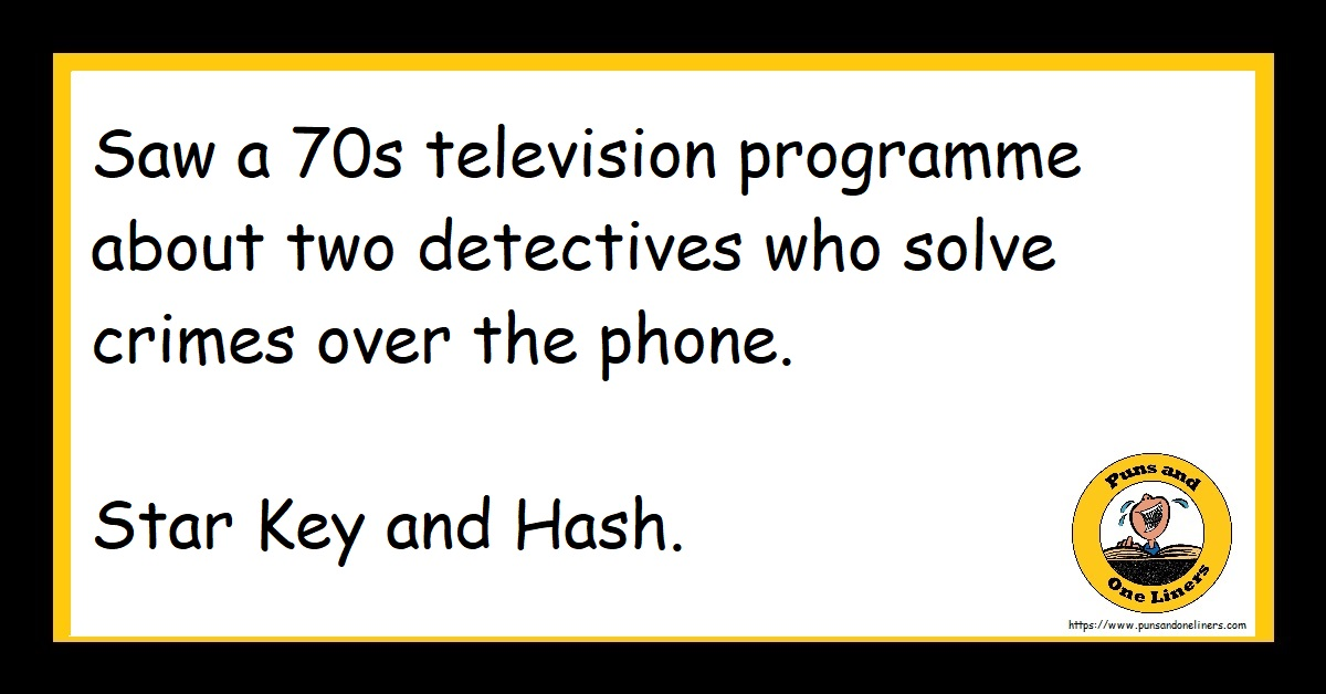 Saw a 70s television programme about two detectives who solve crimes over the phone. Star Key and Hash.