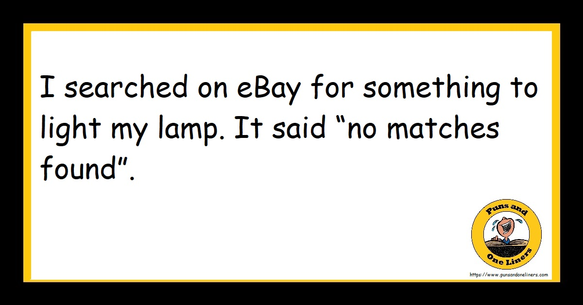 """I searched on eBay for something to light my lamp. It said """"no matches found""""."""