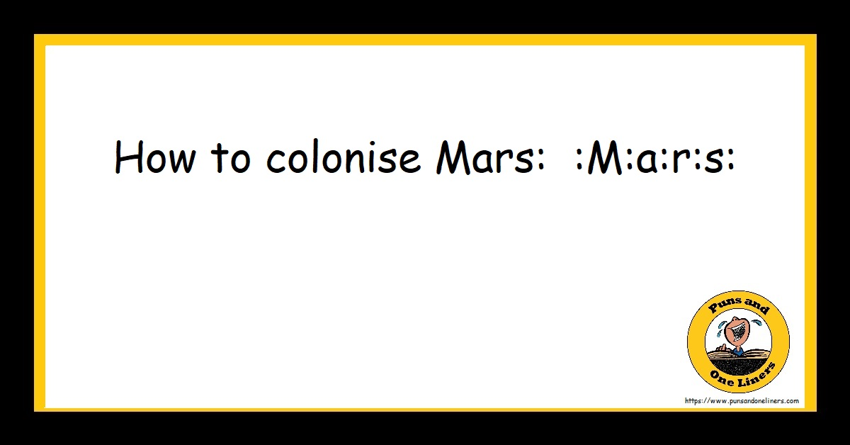 How to colonise Mars: :M:a:r:s:
