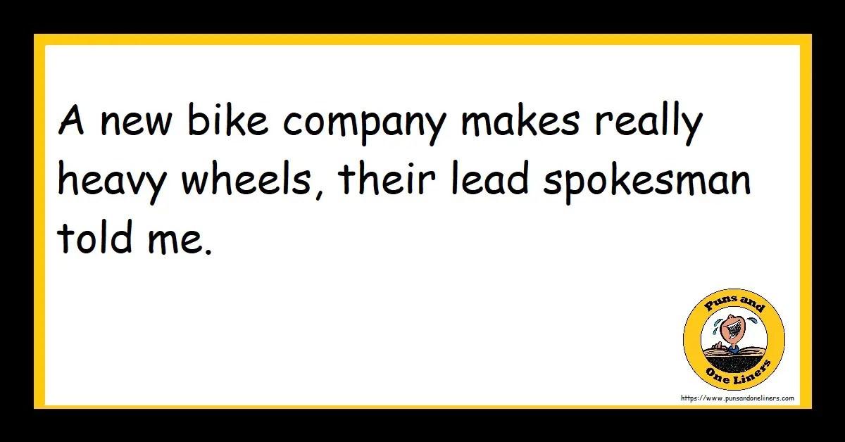 A new bike company makes really heavy wheels, their lead spokesman told me.