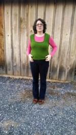 Peace fleece vest