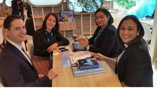 Jakaira Cid, Yohani Casilla y Angelina durante su participacion en FITUR
