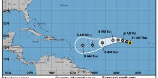 Huracán Irma, categoría 2