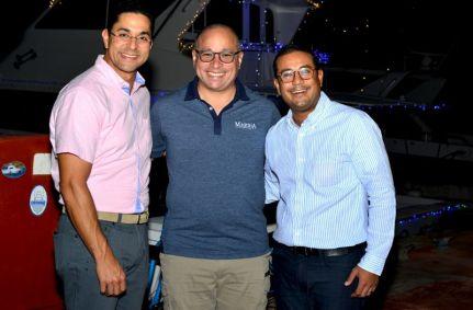 Jorge Subero, Silvano Suazo y Hector Baltazar