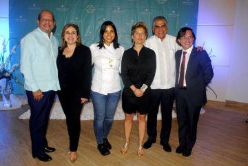 Ernesto Velóz, Maria José Berbel, Chef Ines Paez Nin, Gloria Fluxa, Fausto Fernandez y Pedro Morales