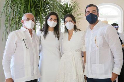 Michel Lulo, Eugenia Lulo Abinader, Maria Amelia Hazoury y Juan Rafael Llaneza
