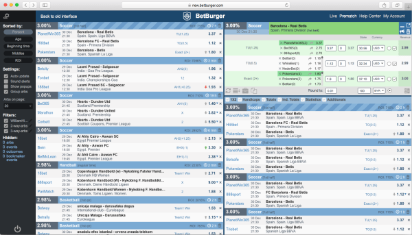 Bet Burger Arbing Software Best Arb Finder, Arbitrage Betting Tool)