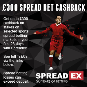 Spreadex — £300 Cashback