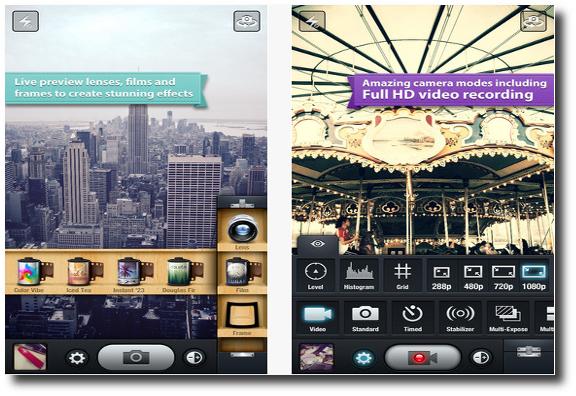 Características y funciones KitCam para iPhone, iPad o iPod Touch