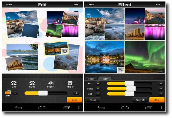 Picq, crear collages de fotos con efectos desde Android
