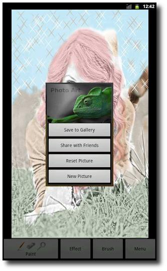 Galería de imágenes, tutorial personalizar fotos en Android con Photo Art - Color Effects