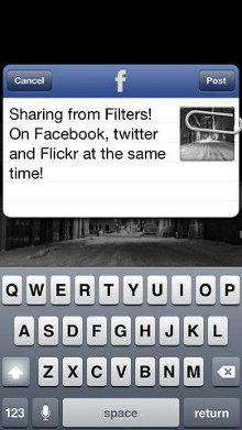 Filters para el iPhone - integracion redes sociales