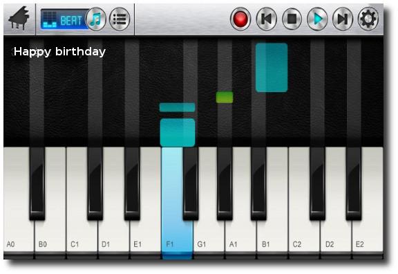 vista de acordes en Pianist HD – Finger Tap Piano