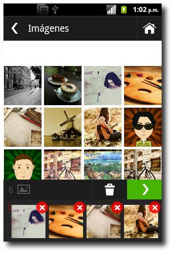 seleccionar imágenes en Photo Grid-Collage Maker