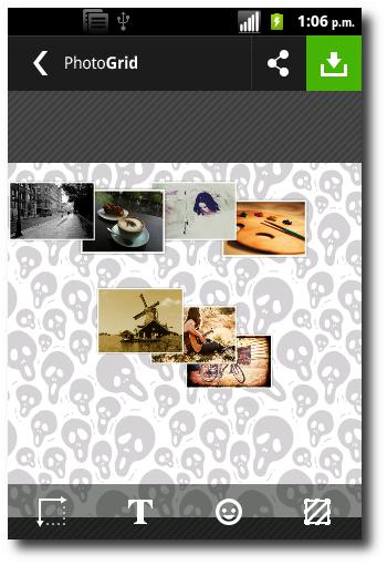 creando collage en Photo Grid-Collage Maker