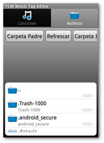 Interfaz de usuario TCM