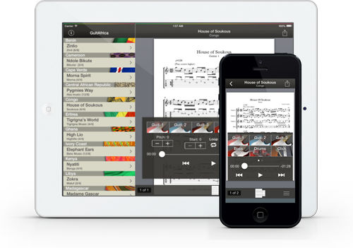 GuitAfrica para iPad y iPhone