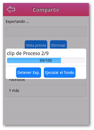 exportando videos en Android con VideoShow