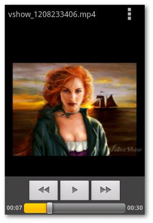 vista previa resultado videos con fotos en Android con VideoShow