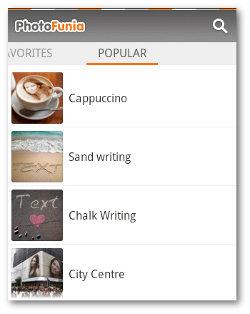 Fotomontajes con PhotoFunia Android