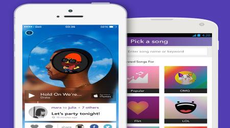 Rithm aplicación móvil para enviar mensajes con música