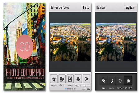 fotos en Android con Photo Editor Profesional
