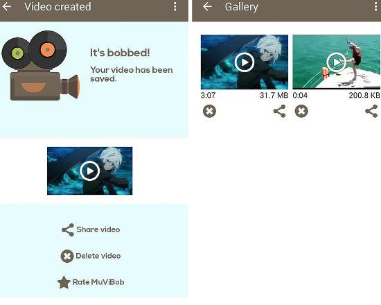 aplicacion android para crear videos con musica