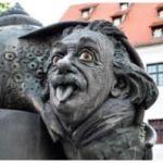 statua di einstein a ulm