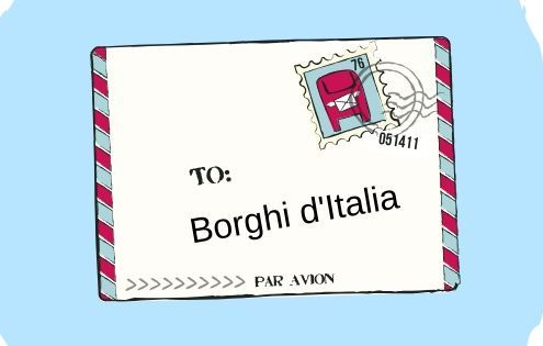 simil cartolina indirizzata a borghi d'italia