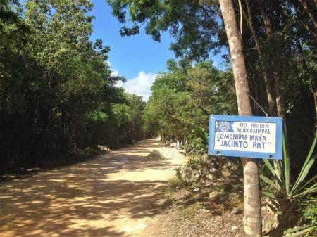 entrata al cenote della riviera maya