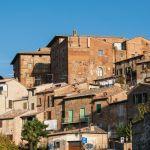 città medievale di città della pieve vista da vicino