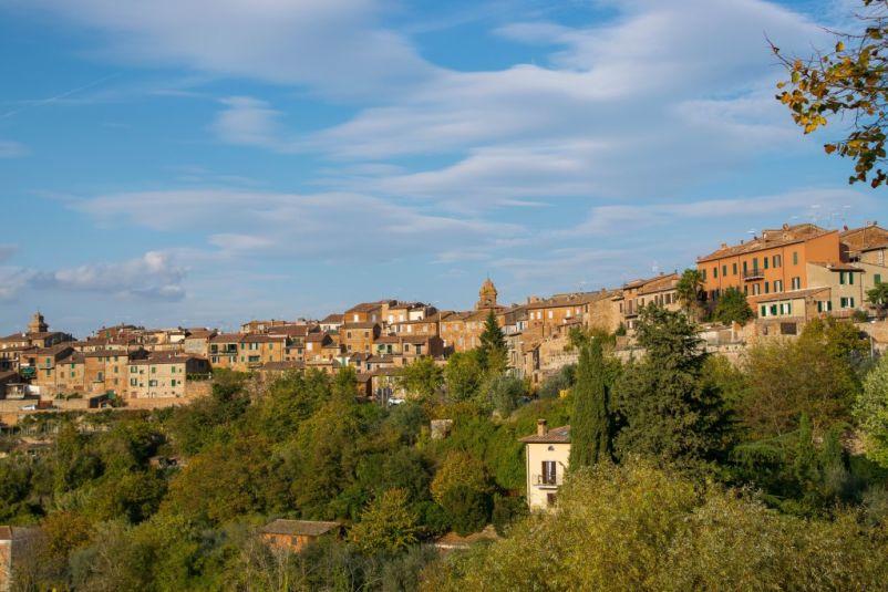 vista della campagna della città medievale di città della pieve